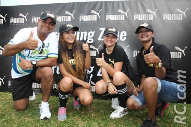 La sympathique équipe de Puma sous la responsabilité de Jovina Mallet et de Norbert