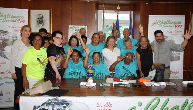 Adjoint délégué aux sports, Thierry Martineau ( a droite sur la photo) sera un fervent supporter de la Ville de Saint-Paul qui accueille la 7ème édition du Challenge des Seniors