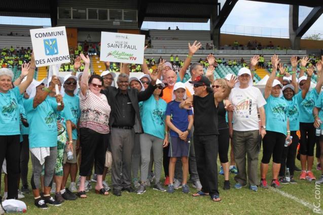 Le coup d'envoi vient d'être donné par Joseph Sinimalé, maire de Saint-Paul, entouré du Comité d'organisation et des équipes en présence