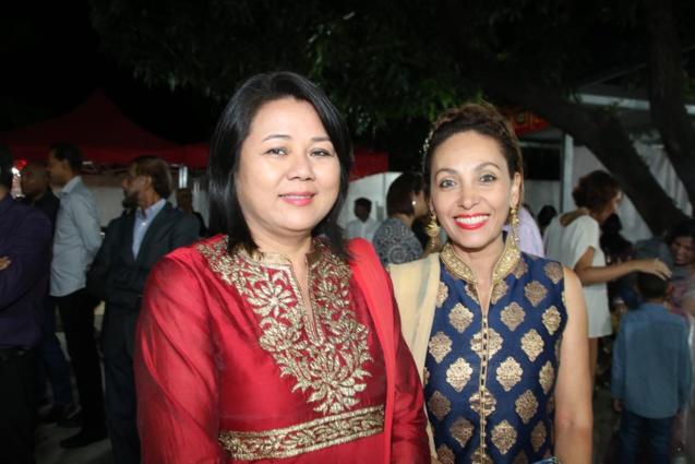Lynda Lee Sow Sin, conseillère régionale, déléguée à l'ouverture sur l'Est de l'Océan Indien (Inde, Chine, Australie), et Corine Robert, directrice de la communication à la Région