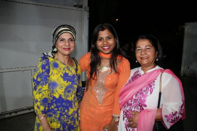 Abéda Patel, secrétaire générale du Groupe Ravate, Preeti Karotiya, officier du Consulat de l'Inde à La Réunion, et Rabia Badat