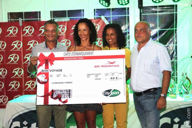 Robert Bourquin de Air-Mauritius, Géraldine Lachapelle, Danièle Séroc et Christophe Babin