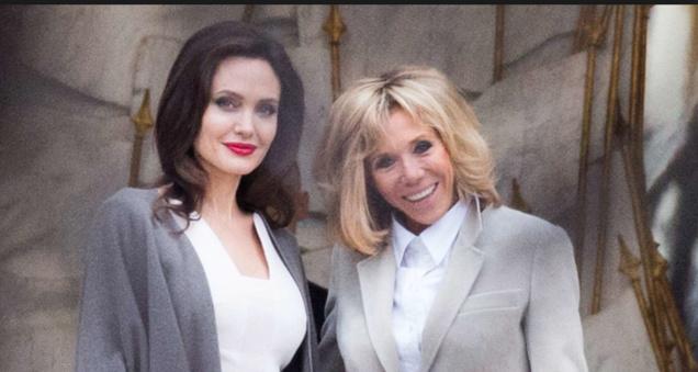 Angelina Jolie et Brigitte Macron