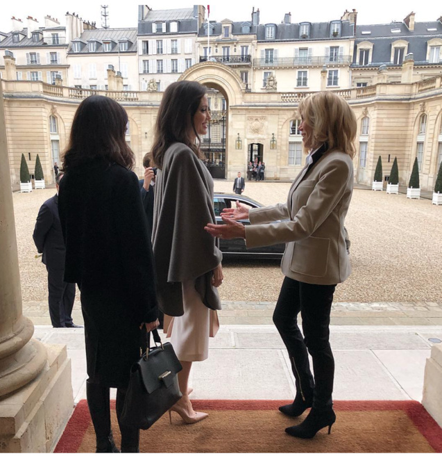 Brigitte Macron a reçu Angelina Jolie à l'Elysée