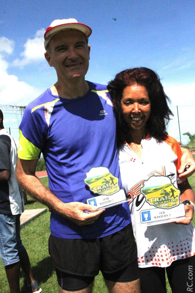 Philippe Caroff, chef prévisionniste à Météo France 2ème Master 2 et sa compagne Viviane Fanchin est 1ère Master 2 sur les 15km