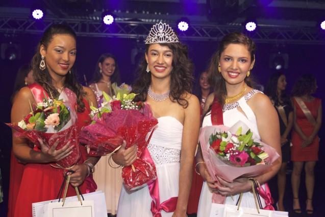 Lucinda Cottin, 1ère dauphine, Rachel Nourry, Miss Salazie 2018, et Lisa Payet, 2ème dauphine