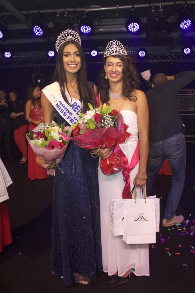 Audrey Chane Pao Kan, Miss Réunion 2017, et rachel Nourry, Miss Salazie 2018