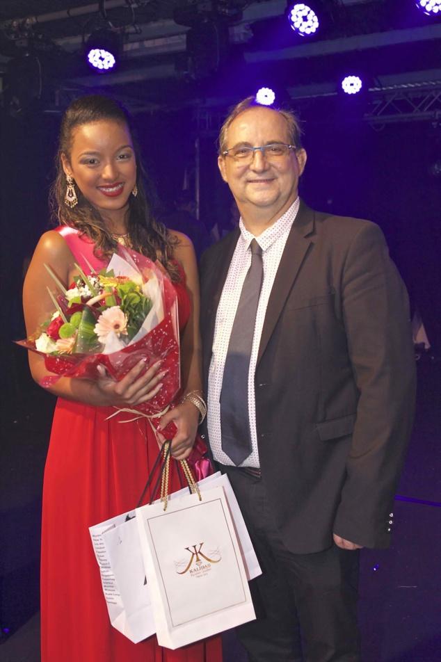 Lucinda Cottin avec le maire