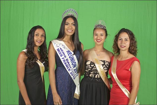Miss Réunion avec les lauréates 2017