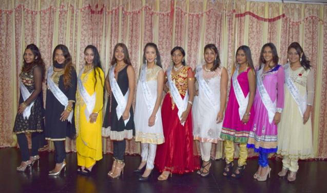 Les 10 candidates Miss India Réunion 2018