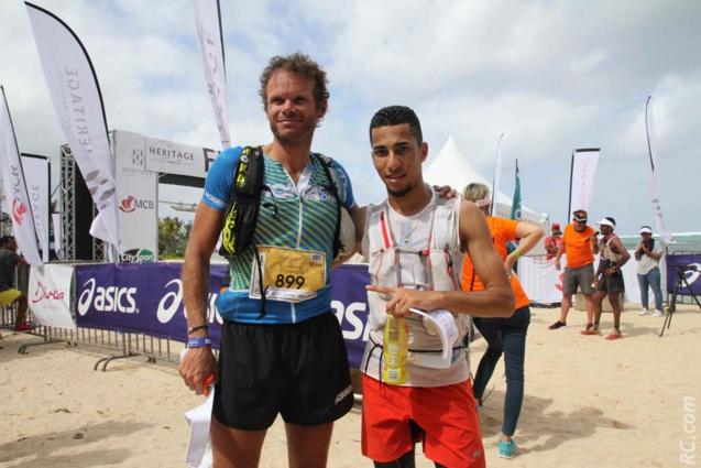 Ludovic Pommeret et le jeune Romain Fontaine de la Réunion