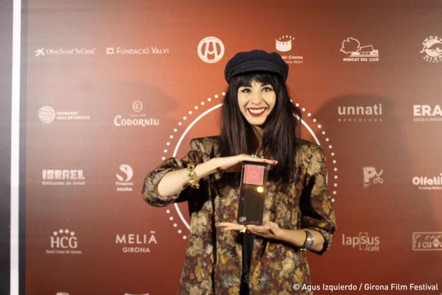 Aurélia avec son Prix de la Mise en Scène