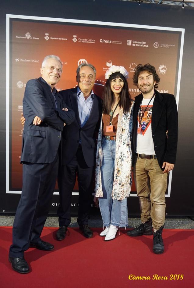 Cette photo a été prise à la soirée d'ouverture du Festival International du Cinéma de Girano, avec Lluis Valenti, et Carles Ribas, partenaire du festival