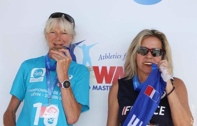Huguette Jouault et Marlène Chane See Chu croquent l'or du semi-marathon