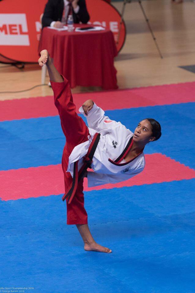Candice Niclin au championnat du monde de Taekwondo