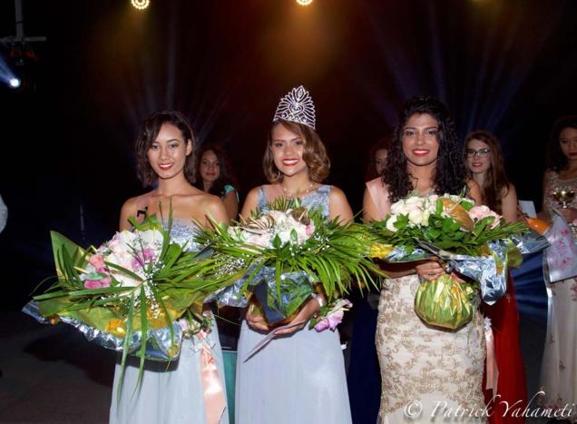 Mathilde Grondin, Camille Lebon, Miss Saint-Joseph 2018, et Océane Fontaine