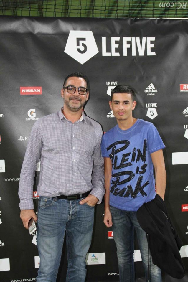 Mounir AYARI responsable commercial à ADRUN (Groupe CIRANO) accompagné de son fils