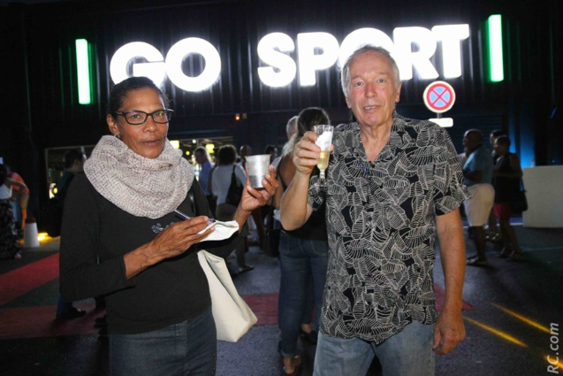 Marie-Nicaise Contau, présidente de l'Association Sportive et Culturelle de Trois-Bassins (ACSTB) et son compagnon Alain Pean