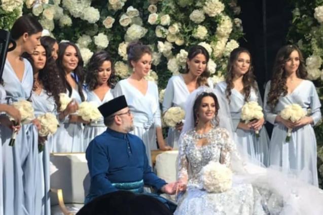 Un mariage fastueux à Moscou en novembre...