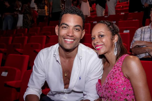 """Terence Tell, qui a fait """"Danse avec les stars"""", et Nathalie Revel d'Air Austral"""