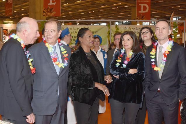 Patrick Ollier, Babette de Rozières, Anne Hidalgo, maire de Paris