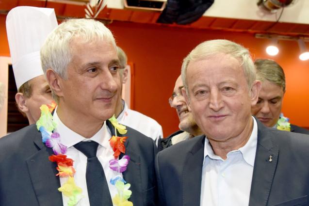 Stéphane Layani, président Rungis, et Yann Queffelec