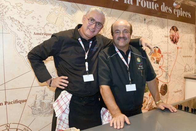 Des chefs réunionnais: Jean-Claude Cléret et Philippe Doki-Thonon