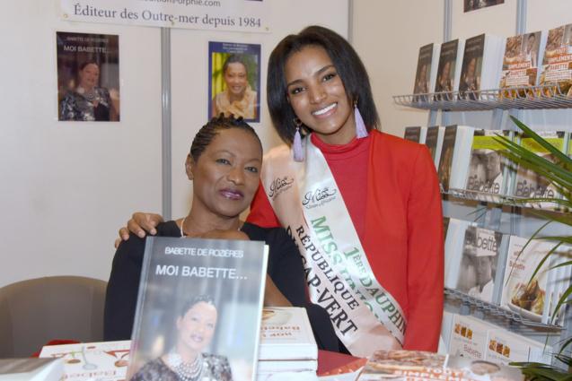 Babette de Rozières avec Rosana Dos Santos-Tancredo, Miss Iles-du-Cap-Vert et 1ère Dauphine de Miss Union Africaine 2018_2019.