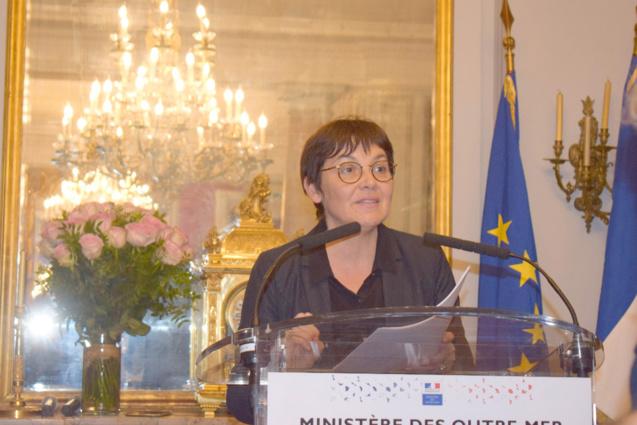 Voeux d'Annick Girardin, Ministre des Outre-merà Paris le 31 janvier 2019