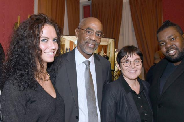 Virginie Prufer, attachée parlementaire, Maurice Antiste,  sénateur de la Martinique, AnnickGirardin,et Wilfred Dale, collaborateur au Sénat