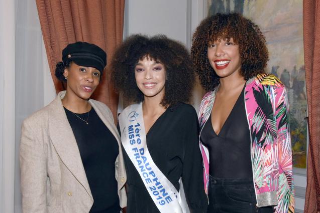 Sandra Bisson, Ophély Mézino, et Chloé Mozar, Miss Guadeloupe 2014