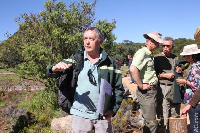 Visite guidée avec Michel Durand, technicien paysage de l'ONF. C'est lui qui a suivi les travaux d'aménagement du site