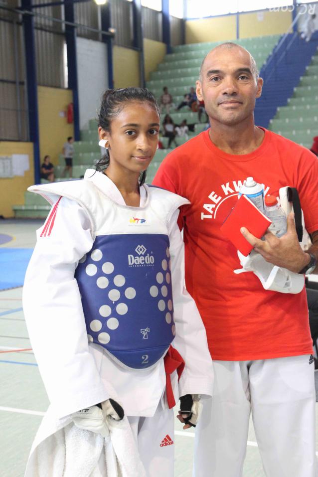 Angie Valiamé et son coach Bertrand Maillot