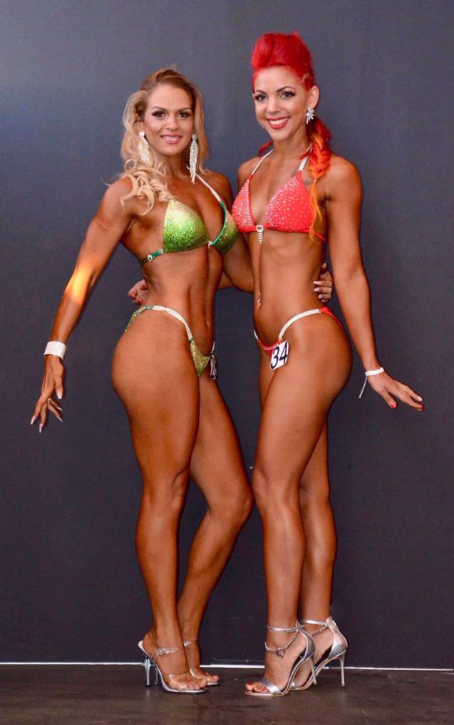 Elvina avec Murielle Bénard qui a gagné la compétition en mars dernier, Elvina a fini 2ème