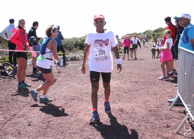 Léonel Delphine, doyen de la course du haut de ses 76 ans