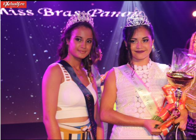 Lucie Rivière, Miss Bras Panon 2018, et Solène Brun, Miss Bras Panon 2019
