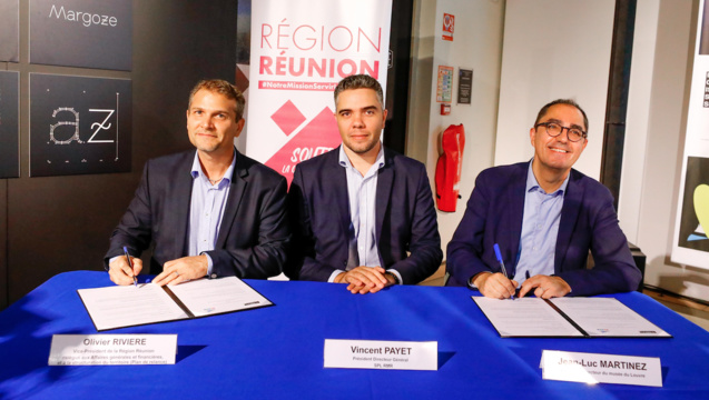 Olivier Rivière, Vincent Payet et Jean-Luc Martinez