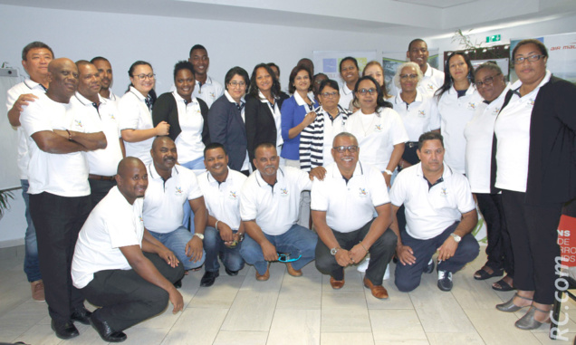 La délégation rodriguaise au grand complet ou presque, a clôturé cette tournée à l'hôtel Battant des Lames à Saint-Pierre