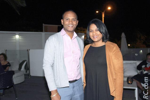 Kunal Bhunjun, directeur du Tekoma, et Nathalie Ajaguin, d'Air Mauritius