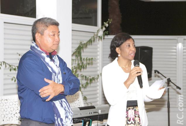 Le discours officiel de  la Commissaire de l'Entreprenariat à l'Assemblée Régionale de Rodrigues, Rose Marie Franchette Gaspard Pierre Louis CKS, et Alain Wang So, directeur des Villas Vétiver et vice-président de l'ATR