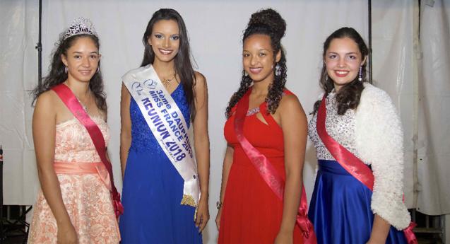 Morgane Soucramanien avec Miss Salazie 2018 et ses dauphines