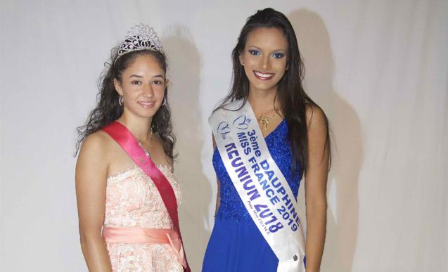 Rachel Nourry, Miss Salazie 2018, et Morgane Soucramanien