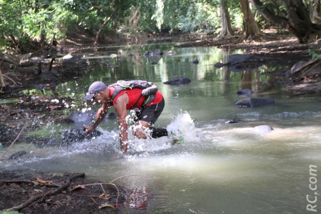Freddy Thevenin avait testé le passage de la Petite Rivière, à 1 km environ de l'arrivée