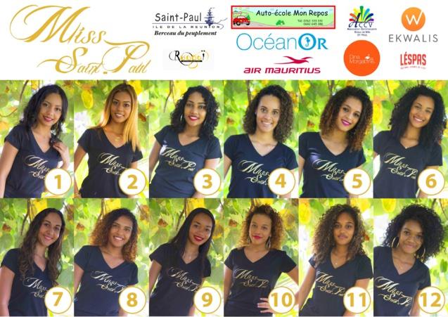 Les 12 candidates Miss Saint-Paul 2019