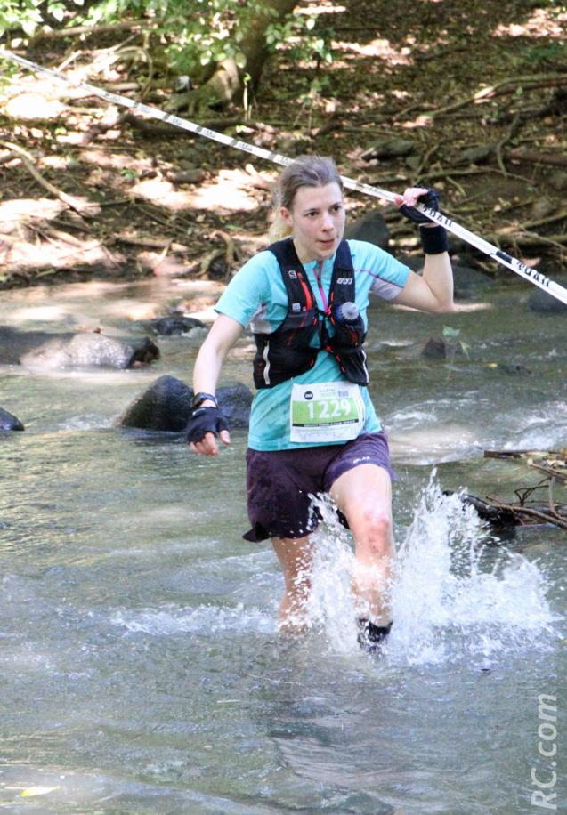 Rachel Queland devait courir les 50 km, mais s'est ravisée pour disputer les 25 km. Pour cause de blessure...