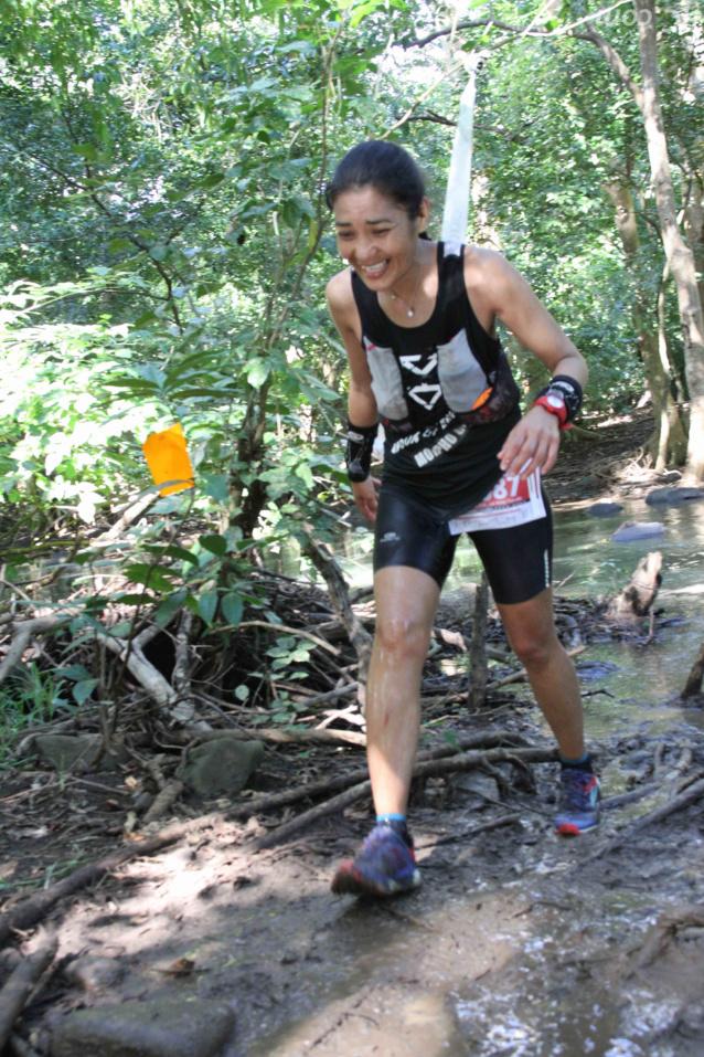 Claudia Fong Kyé de Rodriques, remporte la course en relais