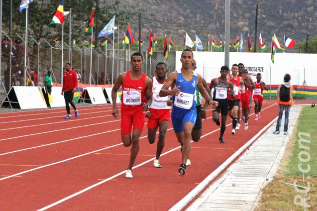 Ruddy Barret qui finit 3ème, a crânement tenté sa chance sur le 1500 mètres remporté par le Mauricien Dookun