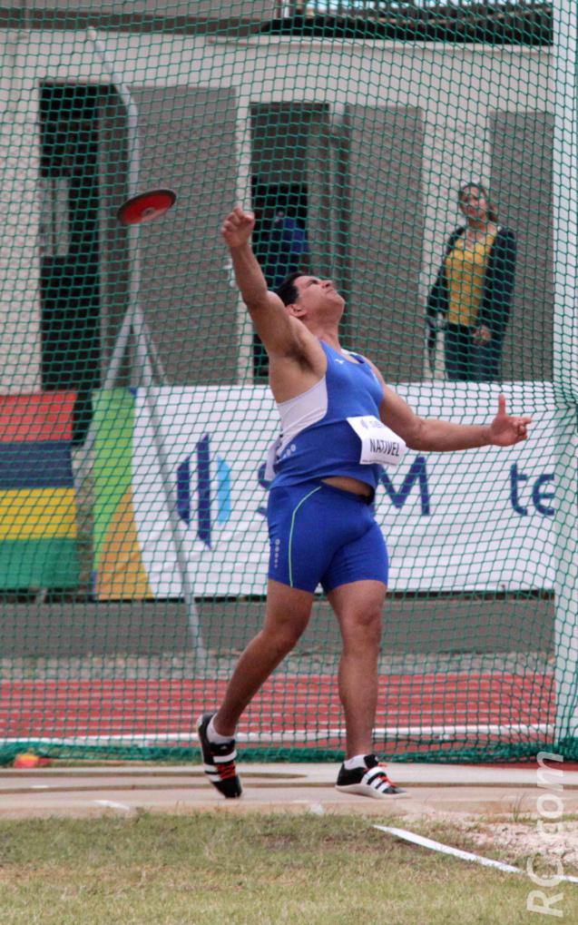 Stéphane Nativel, 3ème au disque avec un jet à 43,74m