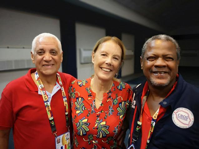 Jean-Claude Prianon, ici avec Véronique Lagourgue et Georges-Marie Nacoulivala