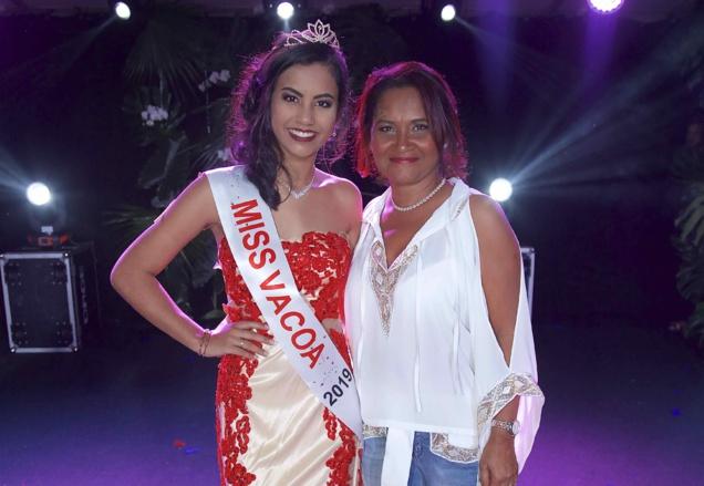 Miss Vacoa 2019 et Michèle Payet